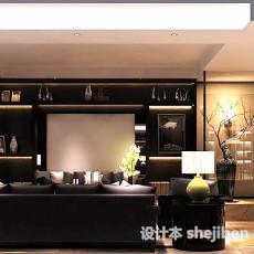 中式别墅餐厅3d模型下载
