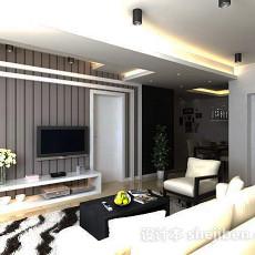 客厅现代简约3d模型下载