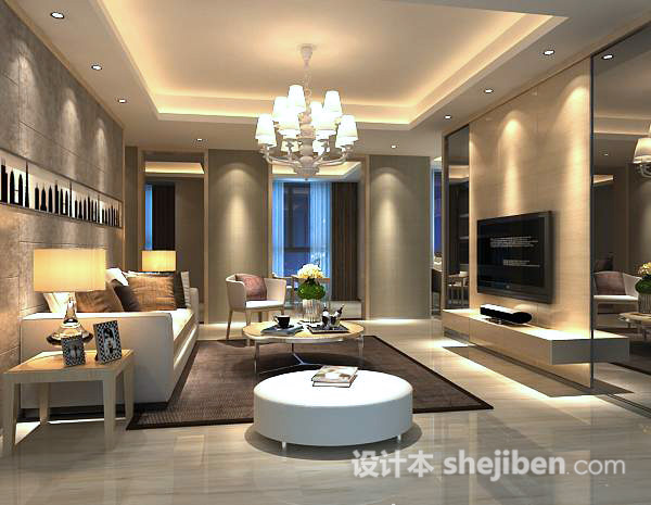 3d客厅挂画模型