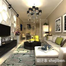 现代客厅石膏电视墙3d模型下载