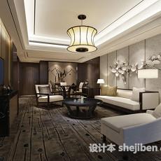 现代家居简约客厅3d模型下载