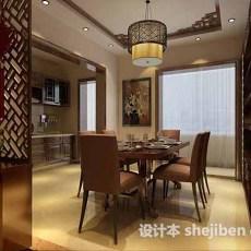 小型中式餐厅3d模型下载