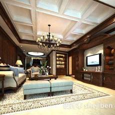 家装客厅电视柜3d模型下载