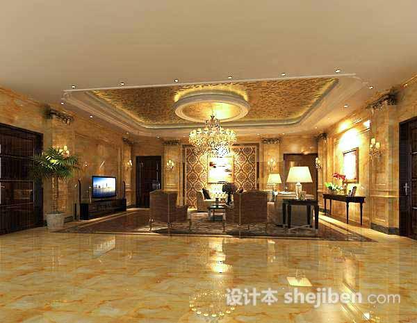 3d客厅吊顶模型
