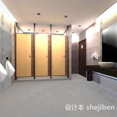 公共洗手间3d模型下载