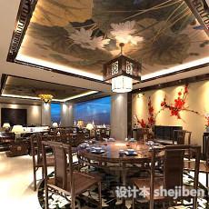 中式天花板3d模型下载
