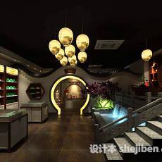 中式别墅楼梯3d模型下载