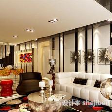 现代客厅免费3d模型下载