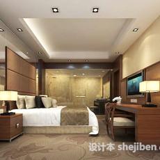 欧式简约卧室3d模型下载