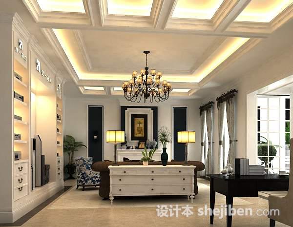 3d欧式客厅吊灯模型