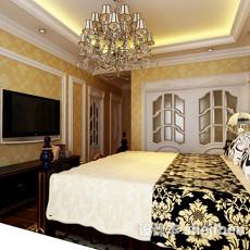 欧式卧室灯3d模型下载