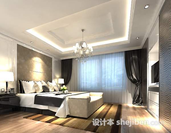 现代卧室3D模型下载