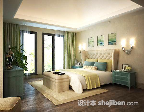 卧室书房3d模型