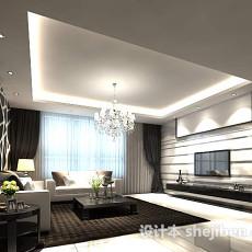 现代简约客厅3d模型下载