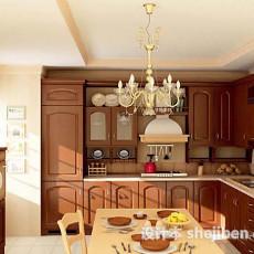 美式家居厨房3d模型下载