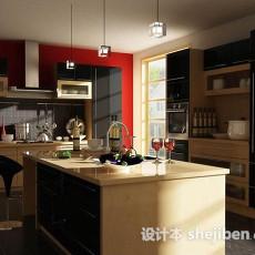 现代家居厨房3d模型下载