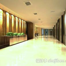 电梯走廊3d模型下载