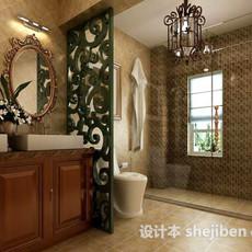 欧式厕所3d模型下载