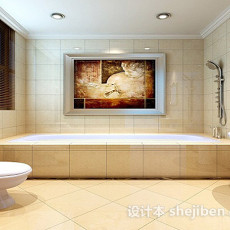 现代家居浴室3d模型下载
