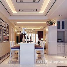 现代餐厅背景墙3d模型下载