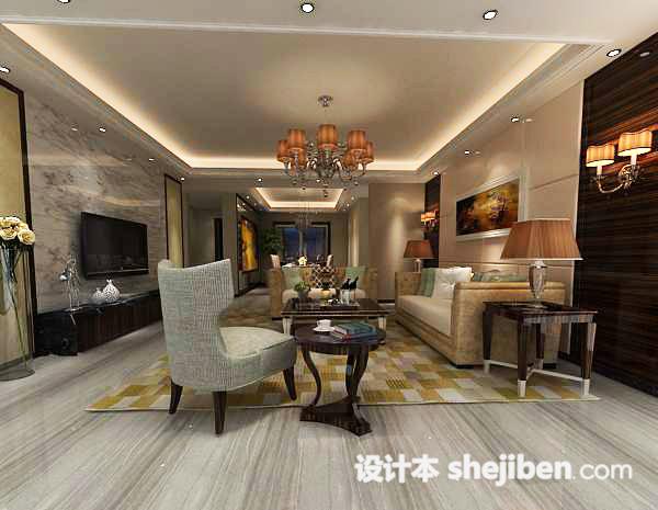 3d客厅吊灯模型