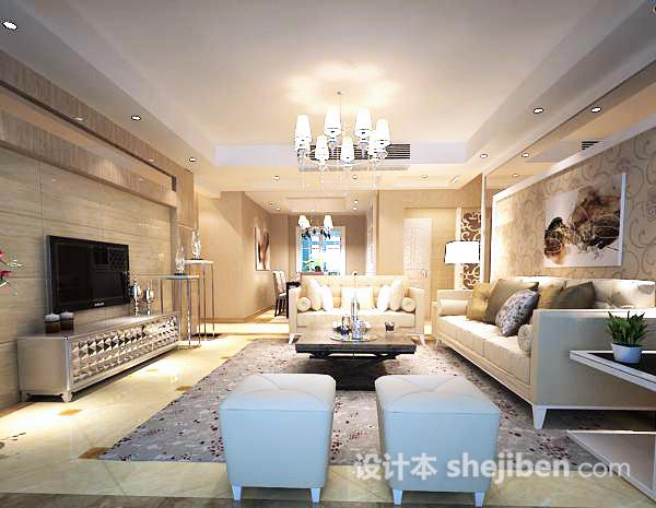 3d室内客厅模型