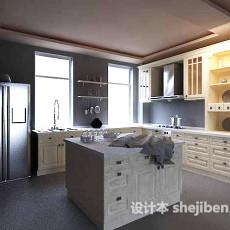 一体厨房3d模型下载