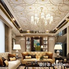 家装客厅整体3d模型下载