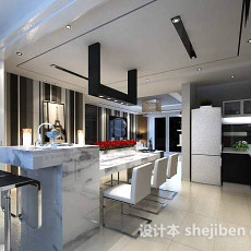 厨房吧台3d模型下载