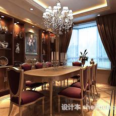 欧式餐厅背景墙3d模型下载