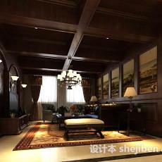 中式客厅吊灯3d模型下载