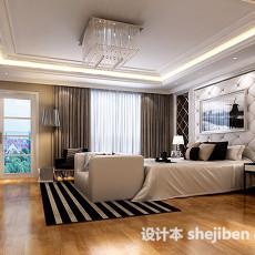 简欧风格家居卧室3d模型下载