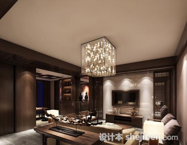 客厅吸顶灯3d模型
