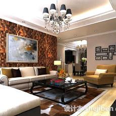 现代客厅吊灯3d模型下载