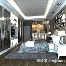 简欧风格卧室3d模型下载