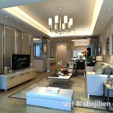 客厅电视墙屏风3d模型下载