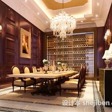 欧式豪华餐厅3d模型下载