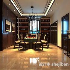 中式家居餐厅3d模型下载
