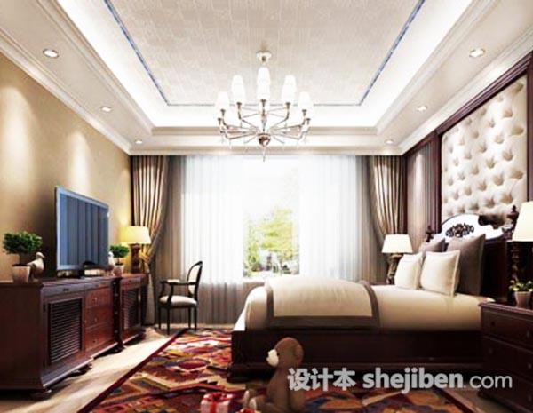 卧室电视柜3d模型