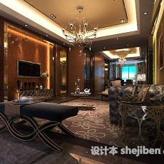 欧式别墅客厅吊顶3d模型下载