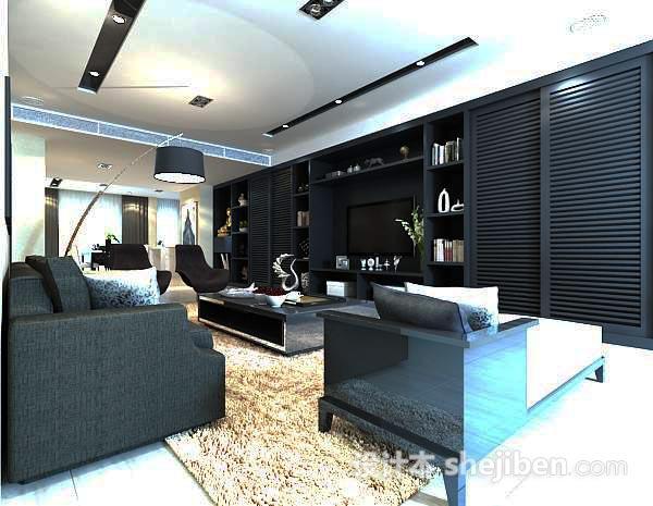 现代客厅家具模型
