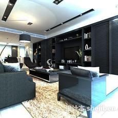 现代客厅家具3d模型下载