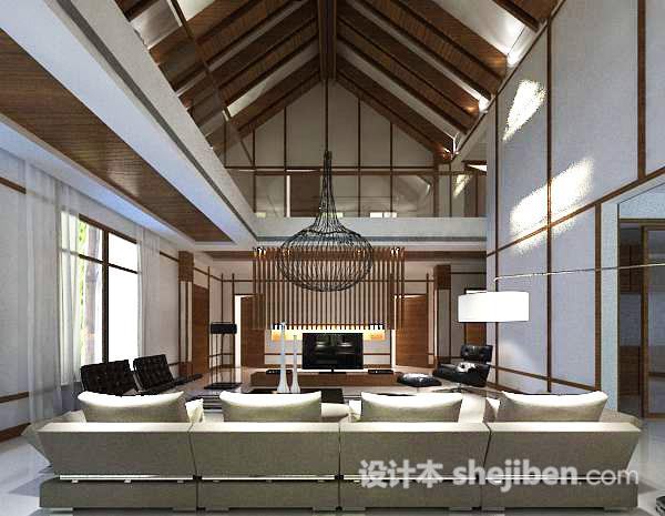 阁楼客厅3d模型
