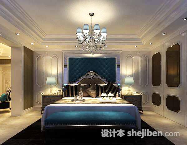 欧式卧室吊灯3d模型