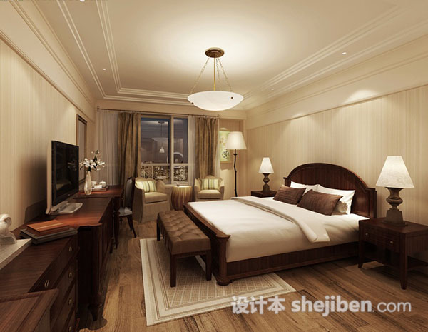欧式卧室3d模型库免费下载