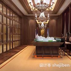 新中式书房3d模型下载