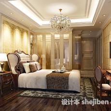 欧式风格卧室吊灯3d模型下载