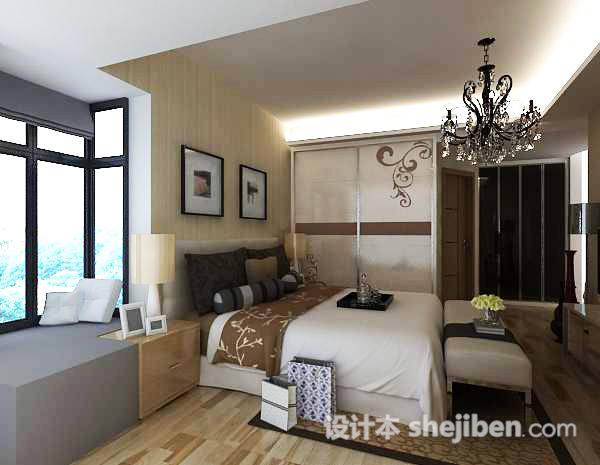 卧室吊灯3d模型