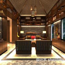 东南亚书房3d模型下载