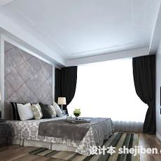 现代家居卧室3d模型下载